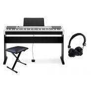 Casio Set CDP130 Silver Pianoforte Digitale / Supporto / Panchetta / Cuffie