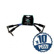 ZZIPP Set di 20 Cavi per Pedali Jack Angolato / Jack Angolato 15cm