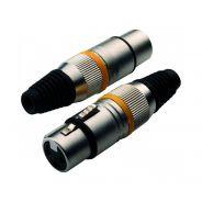 Set 5 Connettori Jack Maschio 6,3mm / 5 XLR Femmina 3 Poli