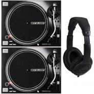Reloop RP 7000 MKII MK2 Coppia Giradischi per DJ con Cuffie