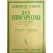 curci 20 studi speciali per violino