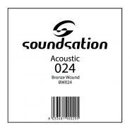 0 SOUNDSATION - Corde per chitarra acustica serie SAW - 0.24