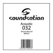 0 SOUNDSATION - Corde per chitarra acustica serie SAW - 0.32