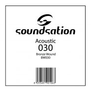0 SOUNDSATION - Corde per chitarra acustica serie SAW - 0.30