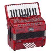 0 SOUNDSATION - Fisarmonica 48 bassi 26 tasti rossa