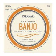 D'ADDARIO J61 - Set di 5 Corde per Banjo Medium (010/023)