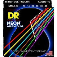 Dr MCA-10 MULTI-COLOR Corde / set di corde per chitarra acustica
