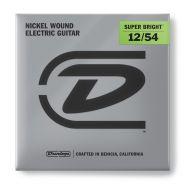 1 Dunlop DESBN1254 Super Bright Heavy Set 6 Corde per Chitarra Elettrica