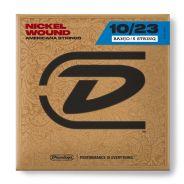 1 Dunlop DJN1023 Set 5 Corde per Banjo Medium Nichel Wound