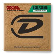 1 Dunlop DJN1236 Set 4 Corde Singole per Banjo Irish Tenor Nichel Wound