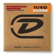 1 Dunlop DMP1140 Medium Set 8 Corde per Mandolino Phosphor Bronze
