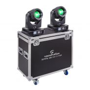0 SOUNDSATION SPIRE 280 BEAM SET - Kit Composto Da Due Teste Mobili SPIRE 280 BEAM Con Flight Case