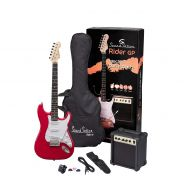 0 SOUNDSATION RIDER GP CAR - Guitar Pack Elettrico - Candy Apple Red