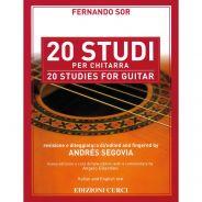 Edizioni Curci F. Sor 20 Studi per Chitarra