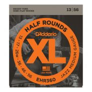 D'ADDARIO EHR360 - Muta per Elettrica Jazz Medium Half Round (013/056)