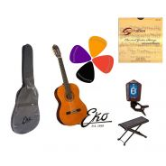 EKO CS10 Set Chitarra classica 4/4, Accordatore/Custodia/Plettri/Corde/Poggiapiedi