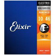Elixir 12052 ELECTRIC NICKEL PLATED STEEL NANOWEB Corde / set di corde per chitarra elettrica