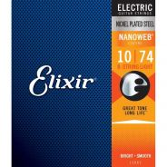 0 Elixir 12062 ELECTRIC NICKEL PLATED STEEL NANOWEB Corde / set di corde per chitarra elettrica
