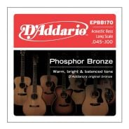 D'ADDARIO EPBB170 - Muta per Basso Acustico Phosphor Bronze Regular Light (045/100)