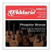 D'ADDARIO EPBB170 - Muta per Basso Acustico Phosphor Bronze Regular Light (045/100)