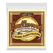 ERNIE BALL - 2061 - Earthwood 5-String Banjo Frailing .010-.013-.015-.024w-.010
