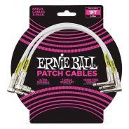 Ernie Ball 3 Cavi Patch Bianchi 30cm