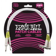 Ernie Ball 3 Cavi Patch Bianchi 45cm