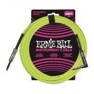 Ernie Ball Cavo per Strumenti Neon Yellow 7.62mt