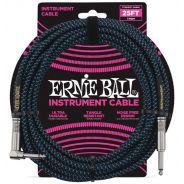 Ernie Ball Cavo per Strumenti Black/Neon Blue 7.62mt