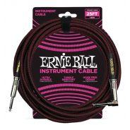 Ernie Ball Cavo per Strumenti Black/Red 7.62mt
