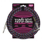 Ernie Ball Cavo per Strumenti Black/Red/Blue/White 7.62mt