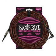 Ernie Ball Cavo per Strumenti Black/Neon Orange 7.62mt