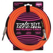 Ernie Ball Cavo per Strumenti Neon Orange 7.62mt