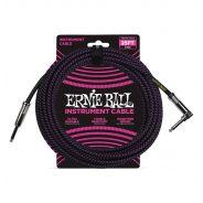 Ernie Ball Cavo per Strumenti Black/Neon Purple 7.62mt