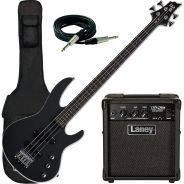 ESP LTD B-10 Black Satin con Combo Laney e Accessori