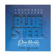0 DEAN MARKLEY - Blue Steel NPS Bass Cryogenic activated Nickel Plated, Medium Light, 5 Corde