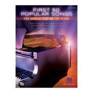 Hal Leonard First 50 Popular Songs per Pianoforte