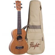 Flight Kit Ukulele Concerto Natural con Borsa e Libro