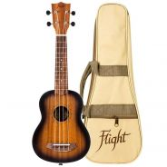 Flight NUS380 Kit Ukulele Soprano Ambra con Custodia
