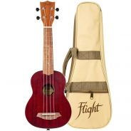 Flight NUS380 Kit Ukulele Soprano Corallo con Custodia
