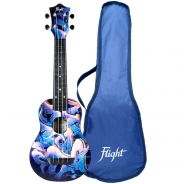 Flight Kit Ukulele Soprano Graffiti in ABS con Borsa