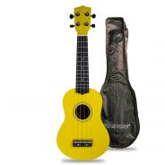 Flight Kit Ukulele Soprano Giallo con Borsa e Libro 1