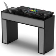Glorious Modular Mix Station Black - Tavolo in Legno per DJ Nero