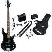 Ibanez IJSR190 Black Kit Basso Elettrico Jumpstart 4 Corde Nero con Amplificatore e Accessori
