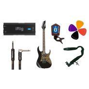 Guitar Recording Pack: iRig HD2 / IBANEZ GRG121SP BKN / Accessori