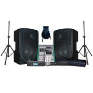 ZZIPP KIT KARAOKE Coppia Casse Attive 400W / Mixer 6 Canali con Effetti e Recording / Radiomicrofono Palmare VHF / Stativi / Cavi