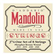 D'ADDARIO J74 - Muta per Mandolino Acustico Phosphor Bronze Medium (011/040)