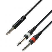 0 Adam Hall Cables K3 YVPP 0600 - Cavo Audio Jack stereo da 6,3 mm a 2 x Jack mono da 6,3 mm 6 m