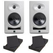 Kali Audio LP-6W Coppia Monitor Attive White 80W + 2 Pad Isolante (26,5x33x4cm)