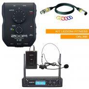 Kit per Lezioni Fitness Online con Microfono ad Archetto Wireless